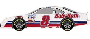 Action 1/64 1990 Jeff Burton Baby Ruth