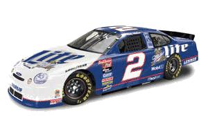 Action 1998 Rusty Wallace Miller Lite Bank in clear display case diecast