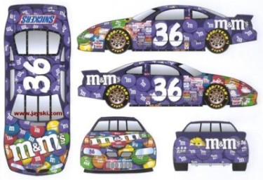 Team Caliber 2002 Ken Schrader M&Ms Purple Color Vote Winner (Preferred Series) diecast