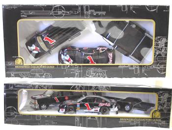 Brookfield 1998 Dale Earnhardt Jr Coca Cola Polar Bear Suburban, Open Trailer, Car diecast