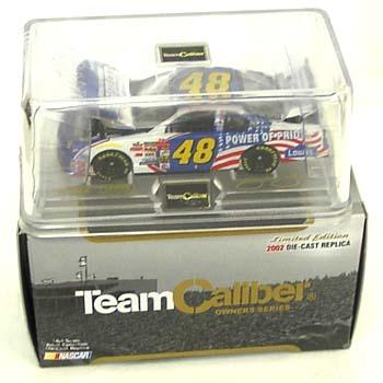 Team Caliber 1/64 2002 Jimmie Johnson Lowes Power of Pride (Owners in display case)