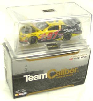 Team Caliber 2002 Kurt Busch Rubbermaid Commercial Products (Owners in display case) diecast