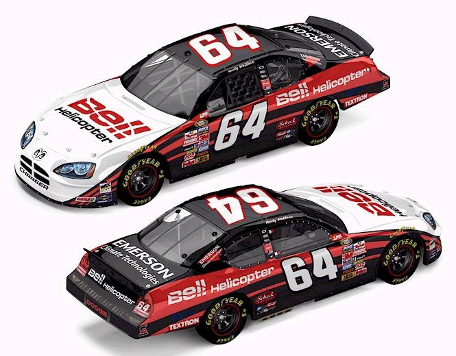 Action 1/24 2005 Rusty Wallace Bell Helicopter / Mexico Dodge Charger (RCCA Club Car #363 of 408)