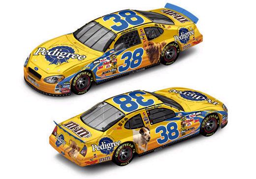 Action 1/24 2005 Elliott Sadler Pedigree Ford Taurus (Club Car #66 of 288)