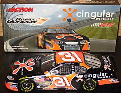Action 2004 Robby Gordon Cingular Wireless / Black Chevy Monte Carlo diecast