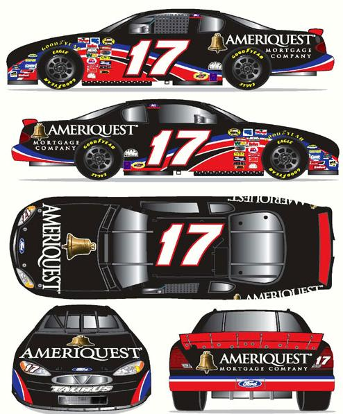 Team Caliber 2006 Matt Kenseth Ameriquest Ford Fusion (Pit Stop series) diecast