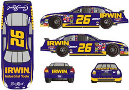 Team Caliber 2006 Jamie McMurray Irwin Tools Ford Fusion (Pit Stop series) diecast
