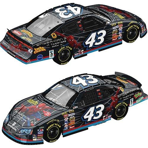 MotorSports Authentics 2007 Bobby Labonte Spiderman Dodge Charger (Pit Stop series) diecast
