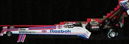 Action 1998 Cristen Powell Dragster Reebok diecast